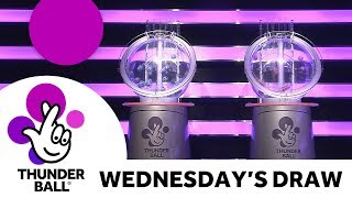 The National Lottery 'Thunderball' draw results from Wednesday 18th April 2018
