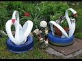Поделки - Поделки своими руками Мастер класс как сделать лебедя для дачи и сада