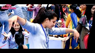 Pahari dance on Pink Plazo at Anni college, Kullu, Dev bhoomi Himachal Pradesh