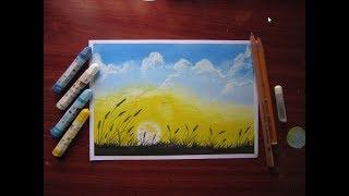 Hướng dẫn vẽ tranh đơn giản với sáp dầu