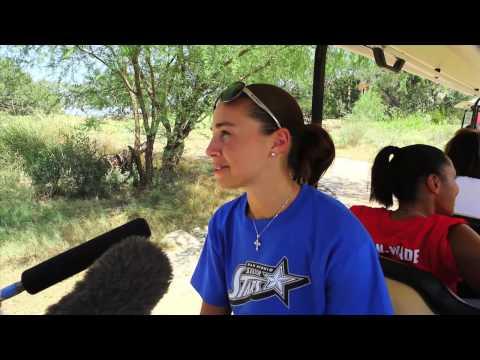 Becky Hammon at the Silver Stars Golf Scramble