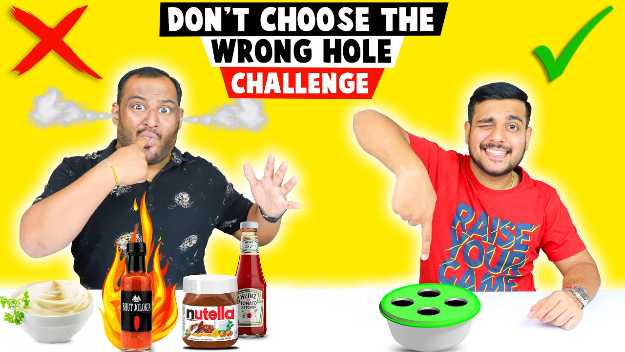 DON'T CHOOSE THE WRONG HOLE CHALLENGE   Food Challenge   Viwa Food World