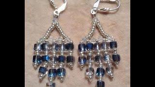 Crystal Cube Earrings Tutorial