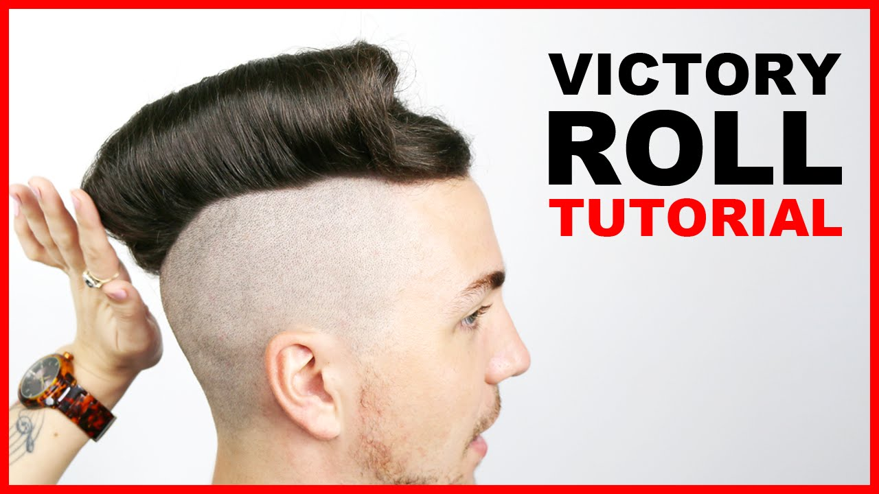 Victory Roll Tutorial Men S Hair Styles 2016 Short Version Youtube