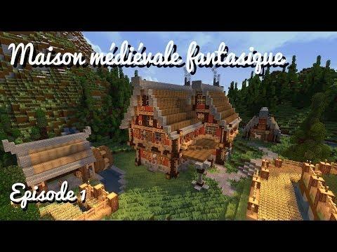 Construire une maison médiévale fantastique - Ep 01: La base + faire un moulin à eau!