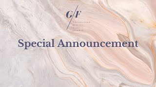 Day 1 Special Announcement