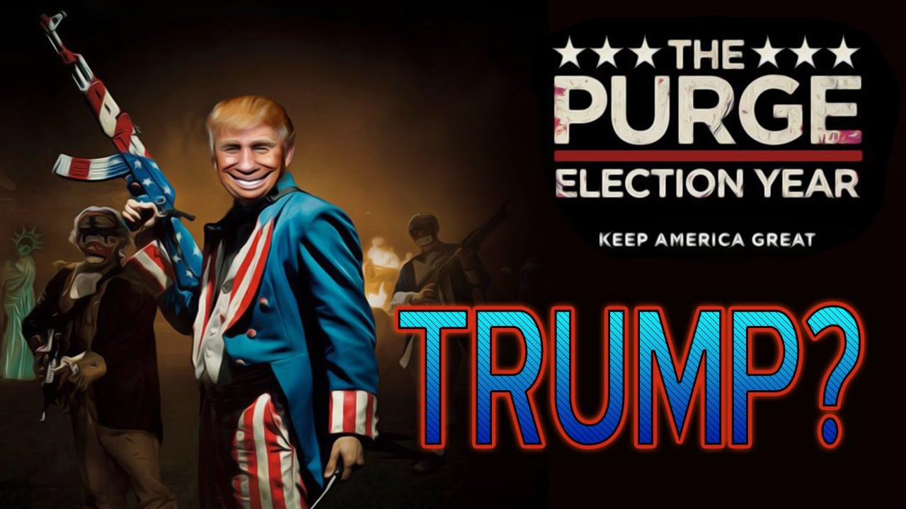 "The Purge Election Year Poster Wallpapers: Donald Trump Is In ""The Purge : Election Year"