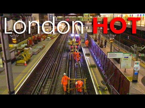 Earls Court Underground Station before and during Christmas track engineering works