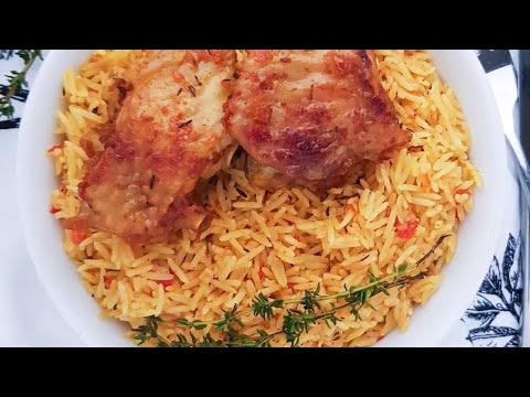 Oven Baked Coconut Jollof Rice in a few easy steps!
