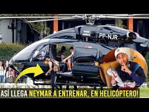 AS ES EL BRUTAL HELICPTERO DE NEYMAR CON EL QUE LLEGA A ENTRENAMIENTOS