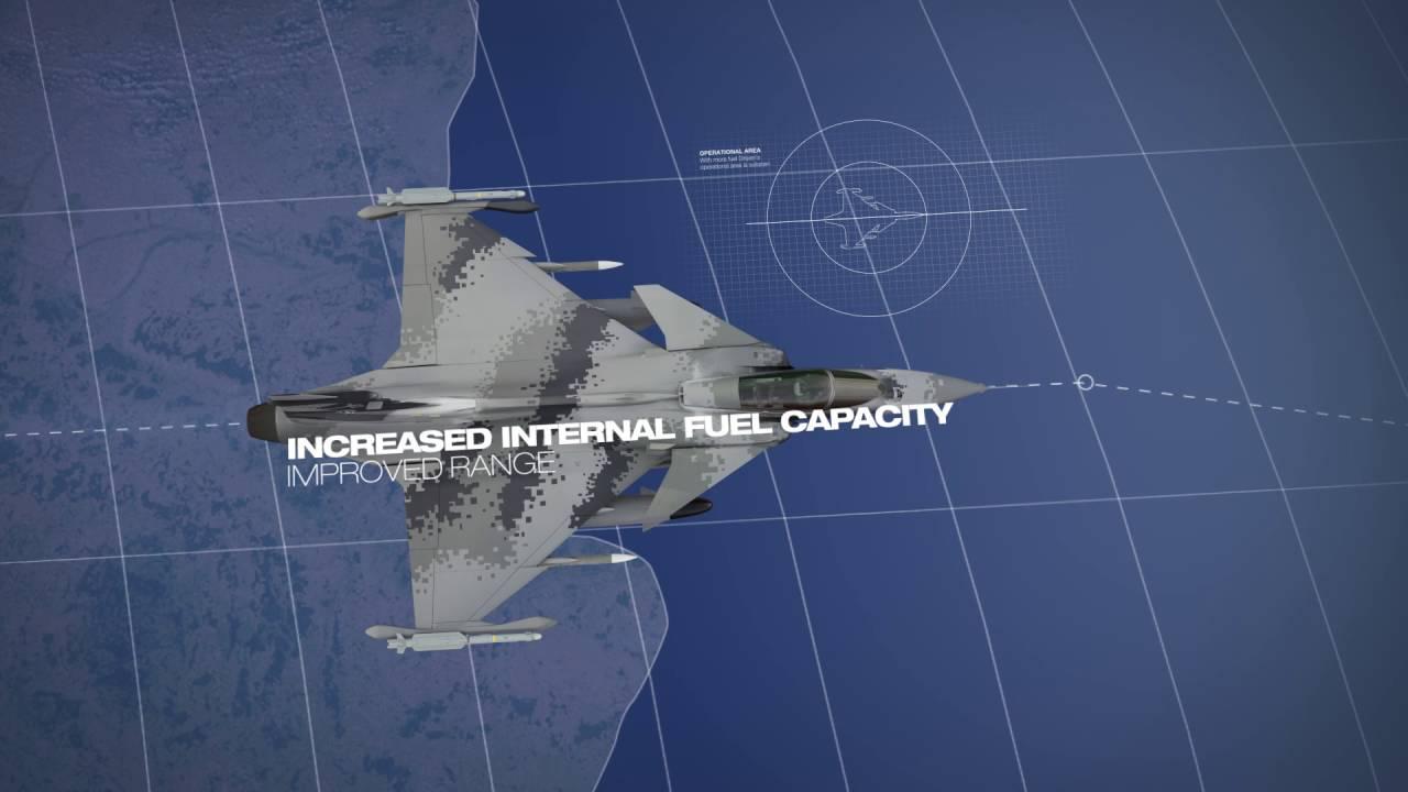 Gripen E features - 3D animation