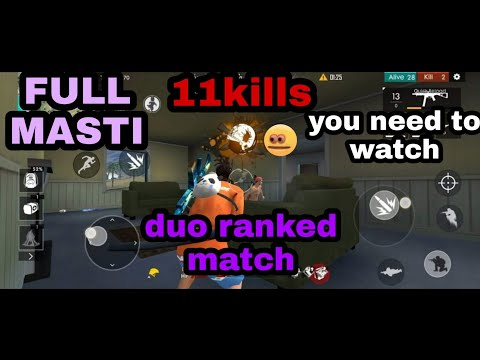Ranked duo match 11kills full of Masti