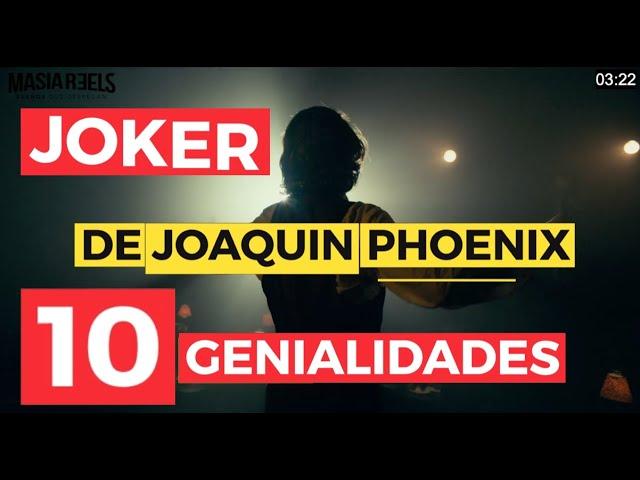 10 genialidades de JOAQUIN PHOENIX para prepararse el JOKER | en 3 min | Mat Cruz