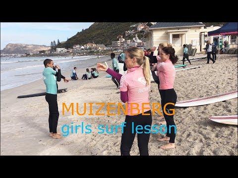 Girls surf lesson, Muizenberg