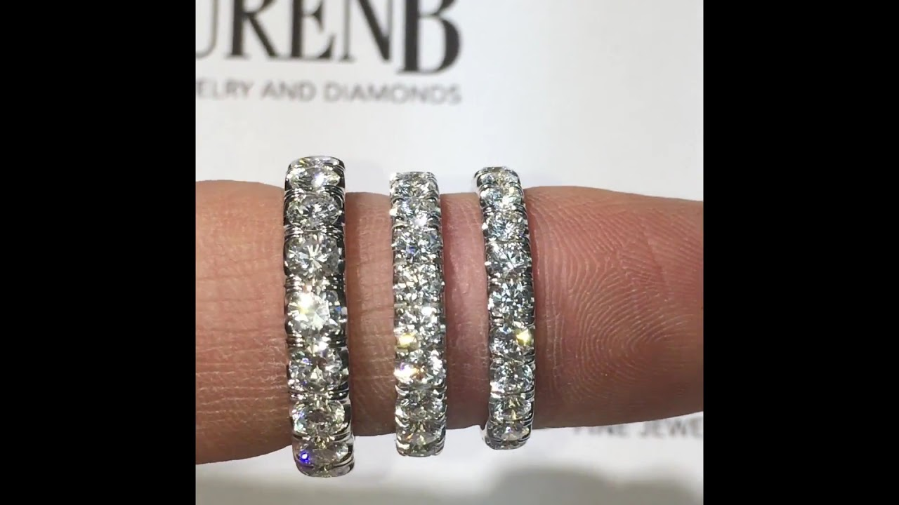 diamond comparison carat youtube eternity band watch bands