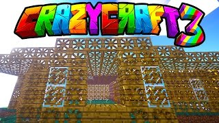 "Minecraft CRAZY CRAFT 3 ""MODDED HOUSE CREATION!"" #5 (Mod Pack SMP)"