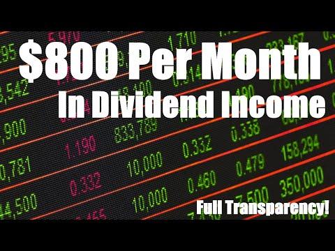 $800/Month In Dividend Income | $26/day | Passive Income, Dividends, real estate