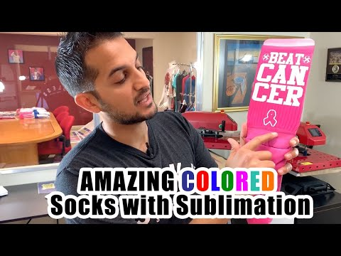 How To Create AMAZING Colored SOCKS With Sublimation!