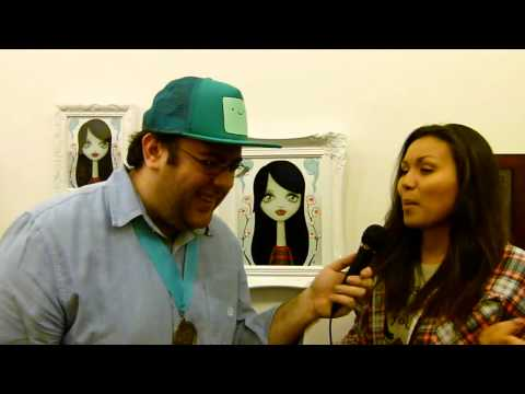 Marceline and Flame Princess Interview at Adventure Time Gallery 1988 Art Show