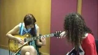 Marty Friedman Guitar Lesson With Leah Dizon.