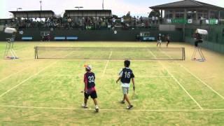 ソフトテニス U-20男子準々決勝 玉沢・能口-坂口・山本