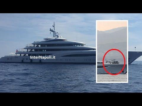 Nel Golfo di Napoli arriva 'Faith', yacht super lusso di 97mt con pista per l'elicottero   La prove