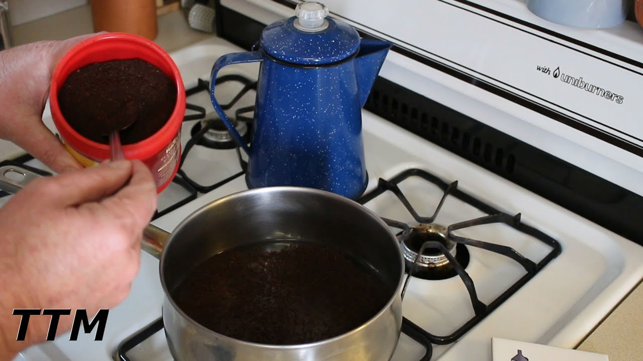 How To Make Coffee Without A Maker Stovetop Cowboy In Sauce Pan You