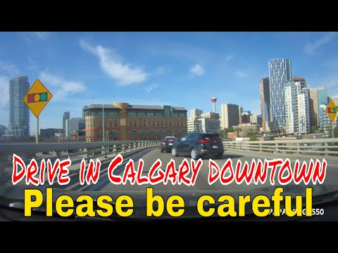 HOW TO DRIVE IN CALGARY DOWNTOWN @1