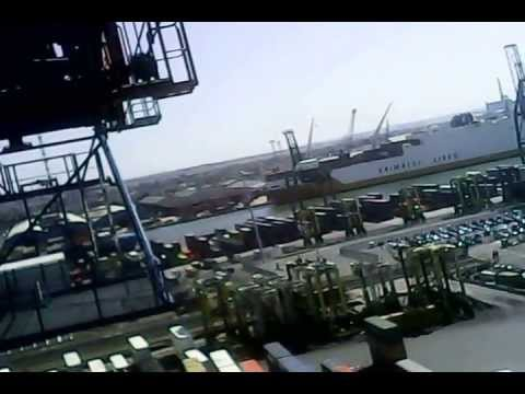 Climbing the Crane in 39 Berth, Tilbury Docks in E
