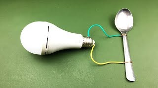 Electric  Free Energy Science  Using Spoon wiht Magnet 100%