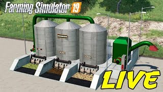 FARMING SIMULATOR 19 #168 LIVE - MOD FORAGE MIXING STATION - GAMEPLAY ITA