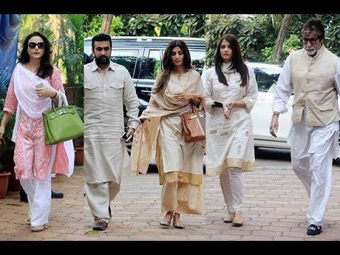 Shilpa Shetty's Fathers PRAYER MEET | Aishwarya Rai, Preity Zinda, Vidya Balan