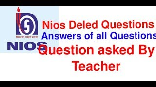 deled question answer