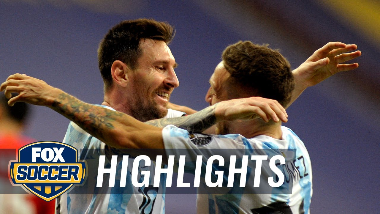 Argentina secures a spot in knockout round with 1-0 win over Paraguay   2021 Copa America Highlights