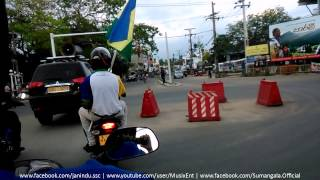 Sri Sumangala College Panadura Bus Donation Parade Passing Panadura Town