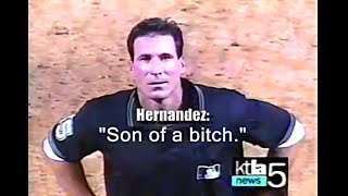 Angel Hernandez doing Angel Hernandez things
