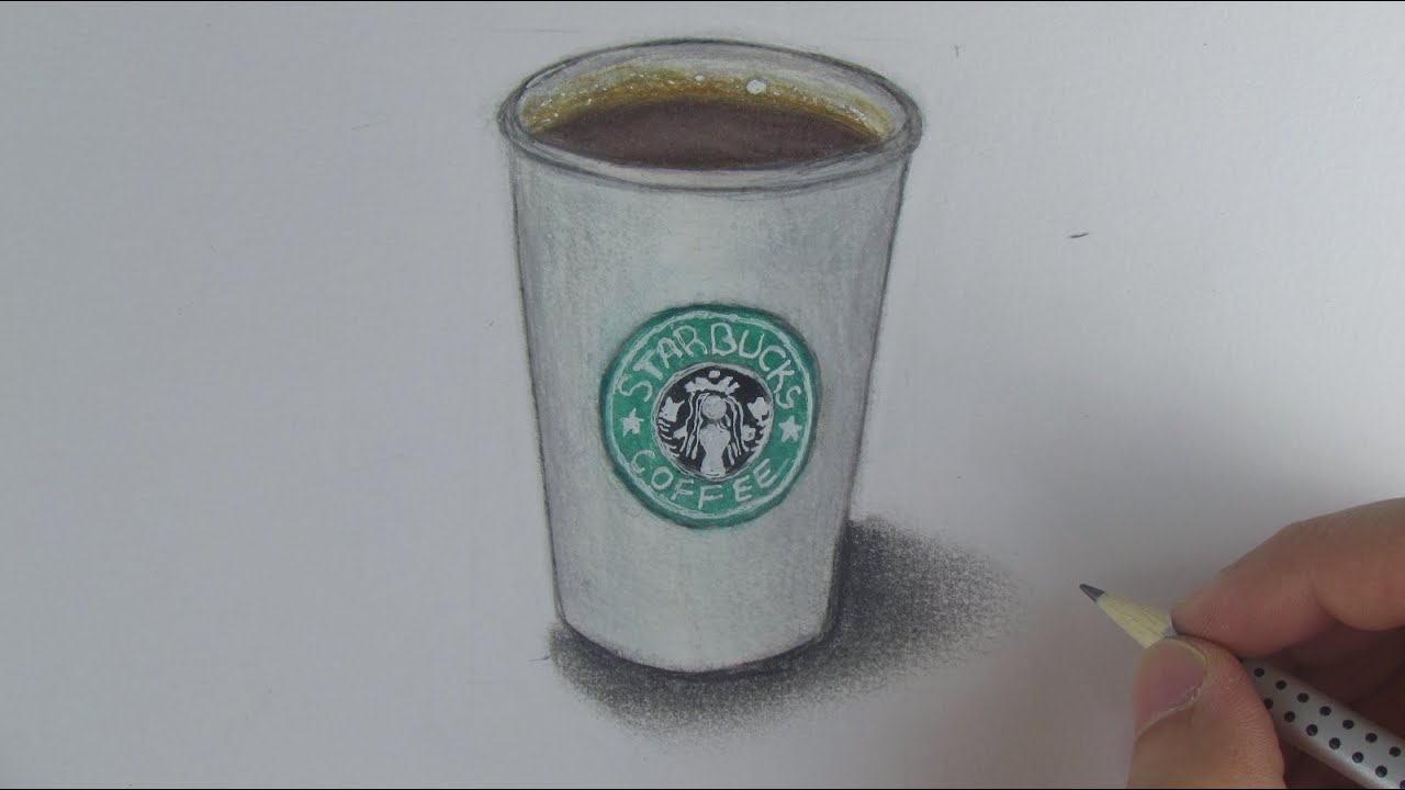 Realistic Starbucks Cup Speed Drawing