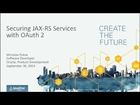 Securing JAX-RS Services with OAuth 2