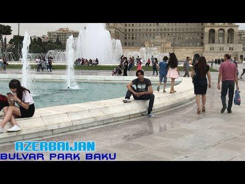 Baku Bulvar Park vlog by shahnam   Bulvar Park Amazing view (Azerbaijan)
