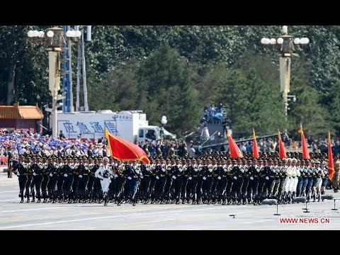 4. The guard of honor of the three services of the Chinese People's Liberation Army