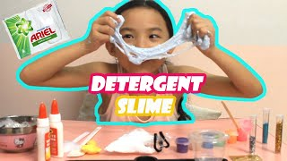 Detergent SLIME (ARIEL)  Testing No Borax  How to Make Slime with Liquid Detergent