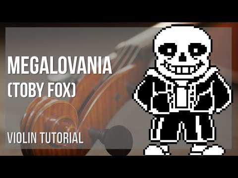 How to play Megalovania by Toby Fox on Violin (Tutorial)