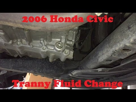 tutorial replace  honda civic transmission fluid youtube
