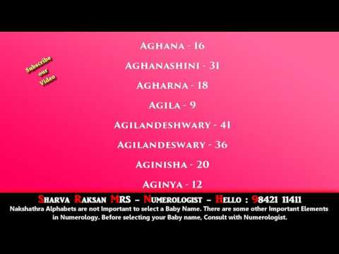 SANSKRIT CUTE DEVINE  GIRL BABY NAME STARTING WITH A  - BEST NUMEROLOGIST - 9842111411
