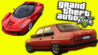 GTA 5 - Gerçek Arabalarla Drift ve Rampalar