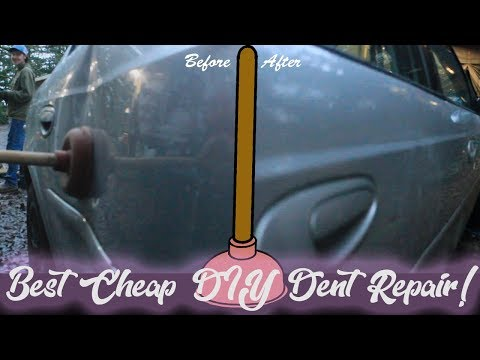 How To Fix A Dent With A Plunger!