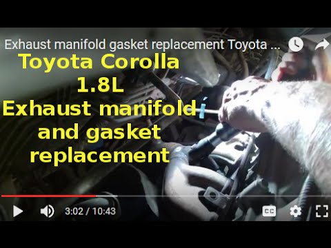 Exhaust manifold gasket replacement Toyota Corolla S 1 8L 2008 Change  exhaust manifold 1710422100