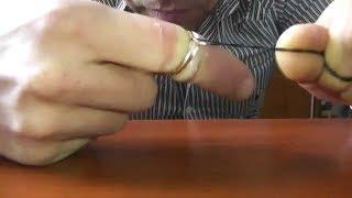 ★Как снять кольцо ниткой с опухшего пальца. Возьми зубную нить и отмотай 75 см