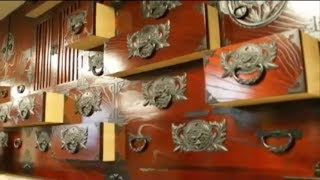 Sendai Traditional Chest with Superb Lacquered Furniture  and Carpentry with no Nails or Screws