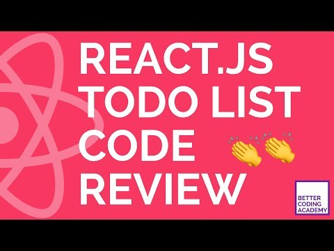 Professional React Developer Performs Code Review | React.js Todo List | Code Review #4 Part 1 thumbnail